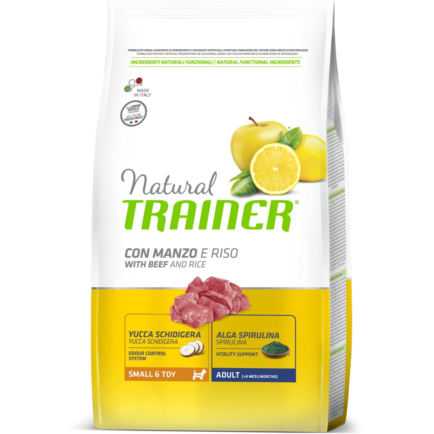 Trainer Natural Small & Toy with Beef and Rice сухой корм для собак 0.8кг