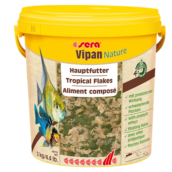 SERA Випан NATURE корм для рыб основной, хлопья ведро, 10л (2кг)
