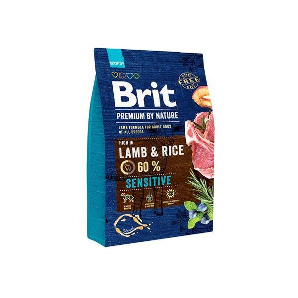 Brit Premium сухой корм для собак с чувствстивтельным пищещварением со вкусом ягненка и риса, 3кг