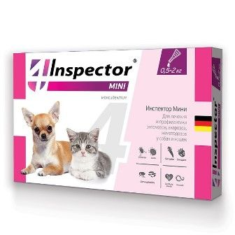 Капли на холку Inspector для кошек и собак 0,5 - 2 кг