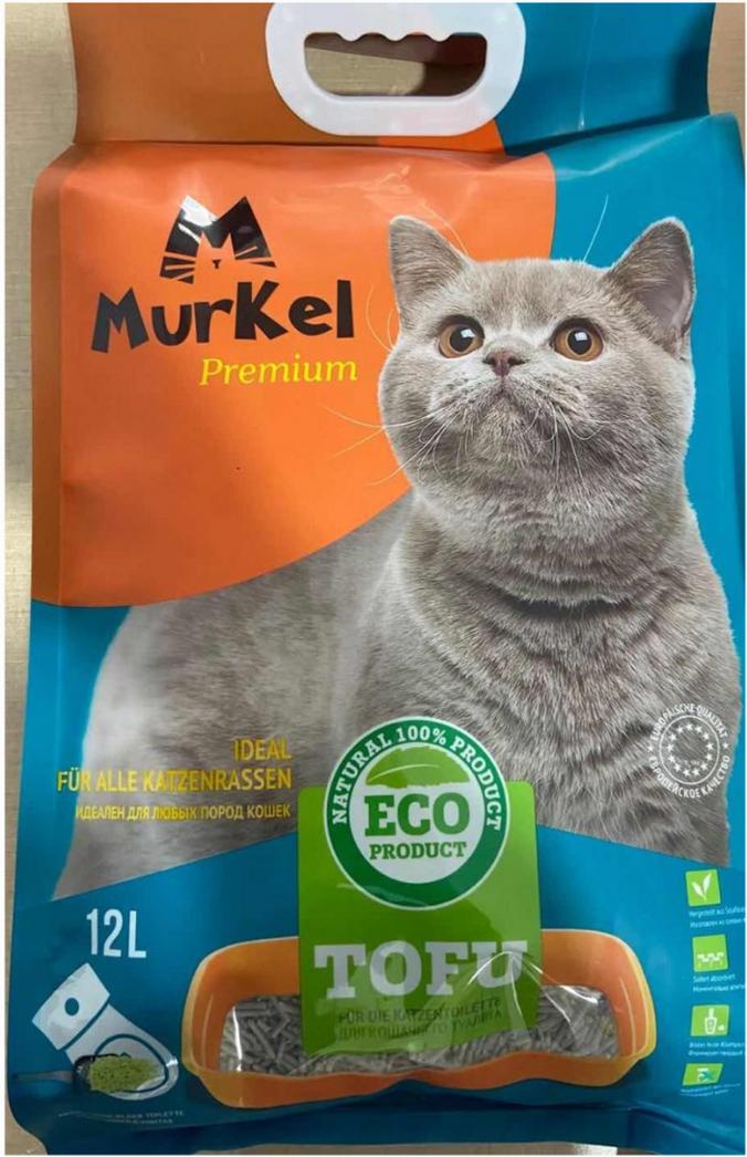 Murkel гигиенический наполнитель для кошачьего туалета, тофу с ароматом молока, 12л