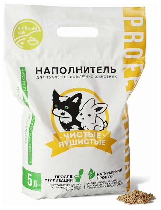 Растительно-минеральный наполнитель Чистые пушистые с ароматом зеленого чая, 2.5кг