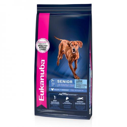 Сухой корм Eukanuba Senior Large Breed 7+ years для пожилых собак крупных пород, 15кг