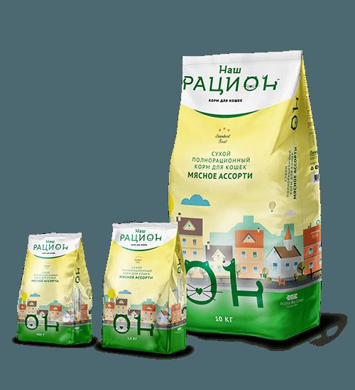Наш Рацион сухой корм для взрослых кошек