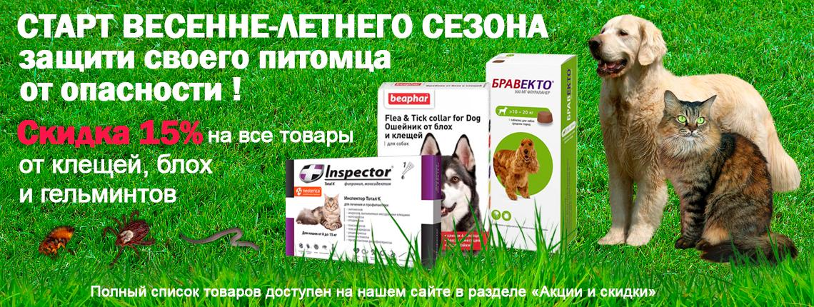 Скидка от паразитов для кошек и собак. Защити своего друга!
