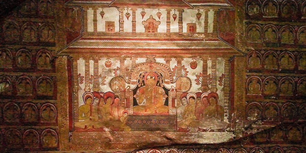 dambulla cave temple painting