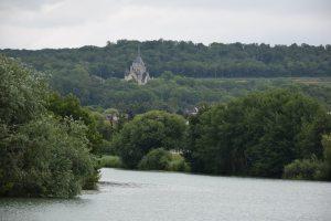 Dormans, memorial de la Grande Guerre, vue de la Marne