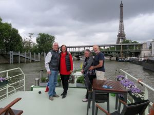 Arriving in Paris on the Seine