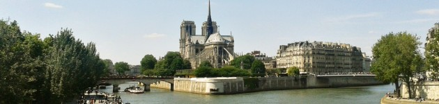 Parijs Notre Dame, gezien vanop hotelschip Johanna