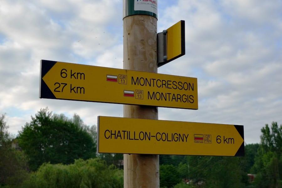Montbouy wegwijzer
