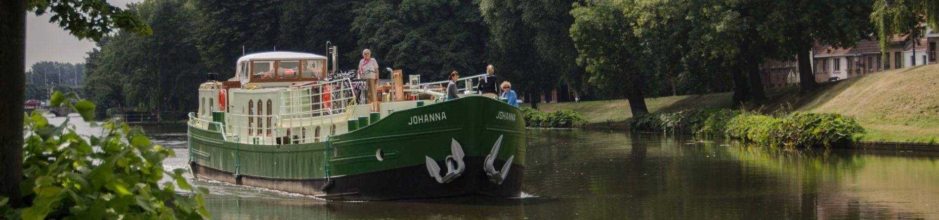 Johanna op het kanaal in Brugge