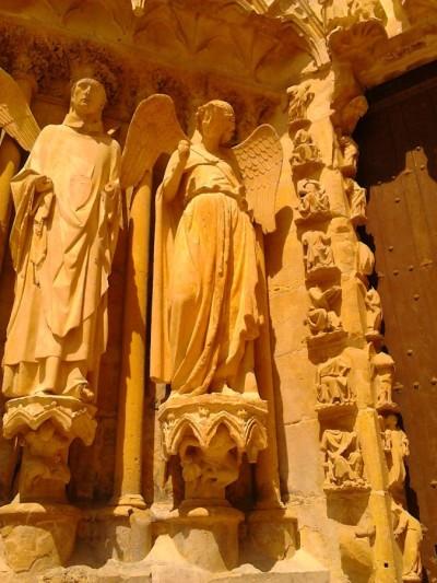 Lachende engel van de kathedraal van Reims