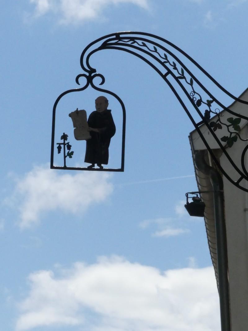 Dom Perignon wrought iron sign in Hautvillers