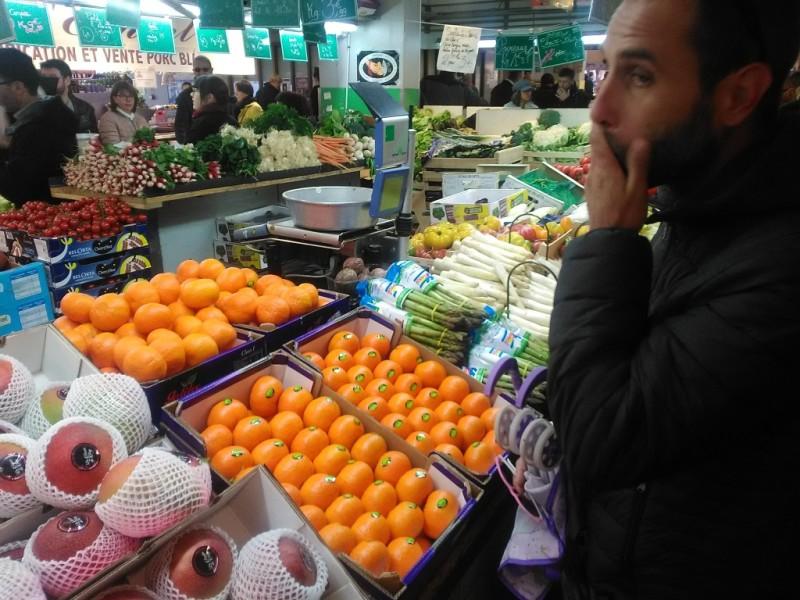 Fruit op de markt van Lagny