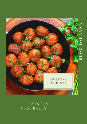 Patsie's Meatballs for lunch on barge Johanna
