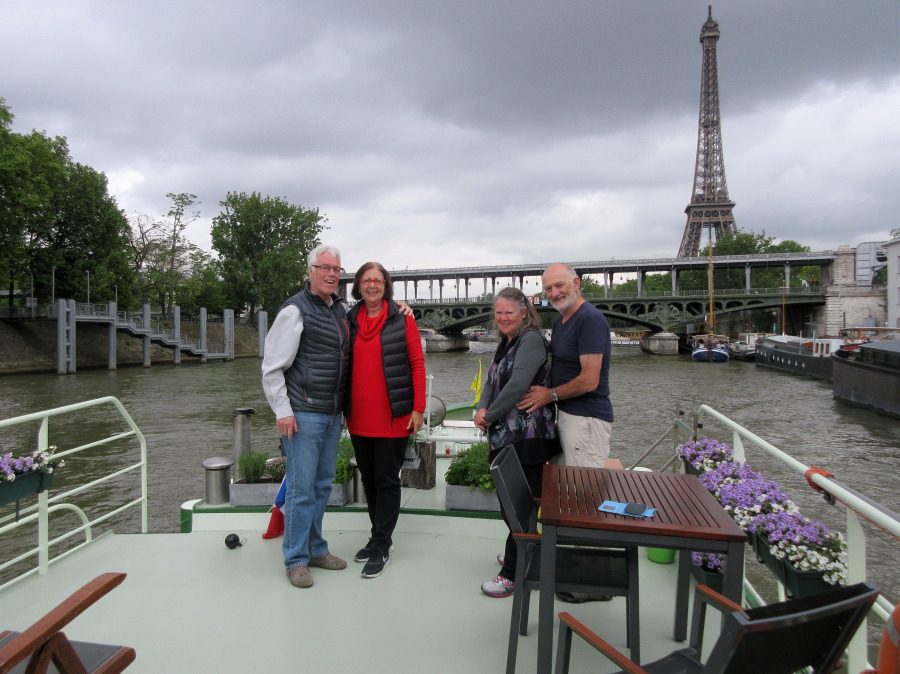 Barge Johanna on the Seine in Paris