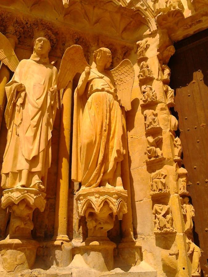 Glimlachende engel van de kathedraal van Reims