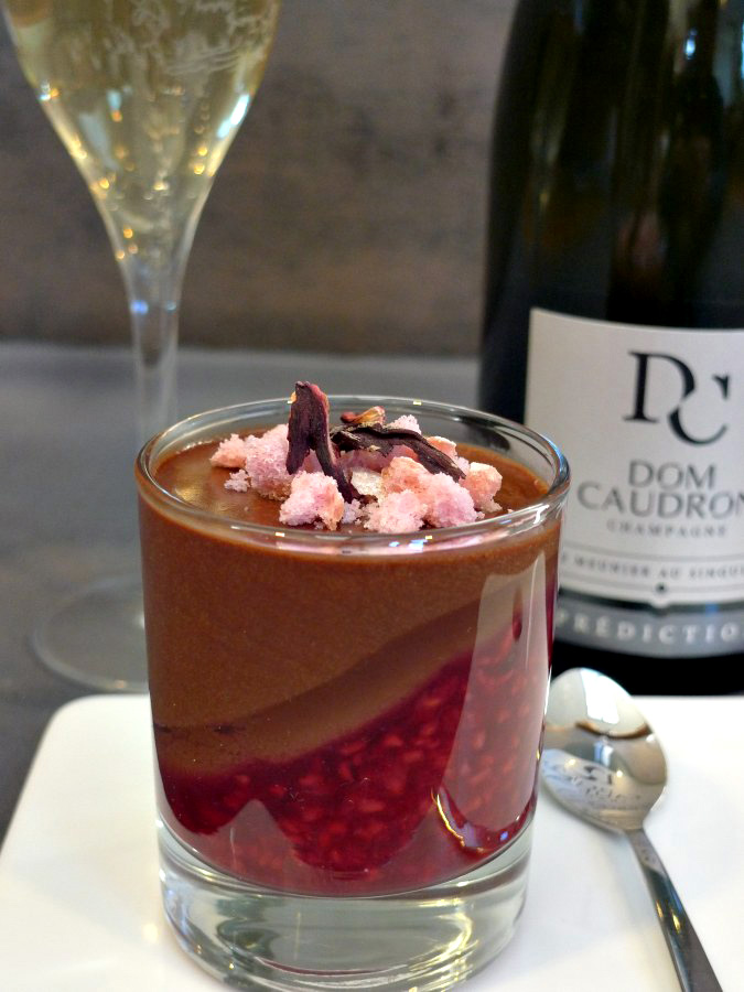 Champagne and Chocolate dessert