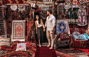 Orientalischer Teppichladen, Marokko