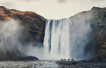 Skogafoss Wasserfall, Island