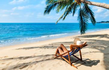Tropischer Strand , Sri Lanka