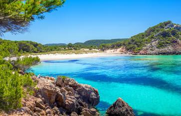 Bucht auf den Balearen