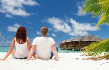 Paar am Strand, Nicaragua