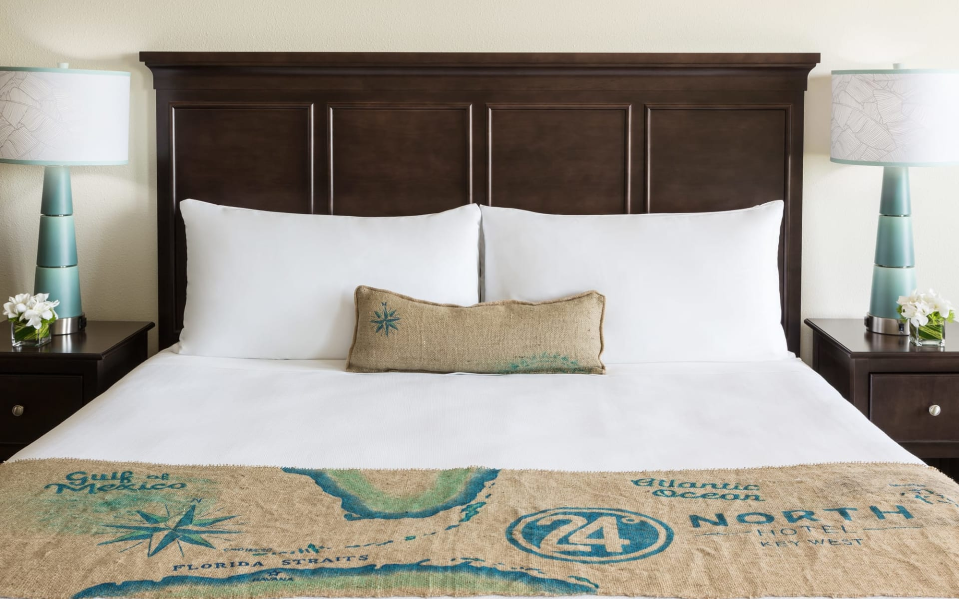 24 North Hotel in Key West: 24-North-Guestroom-Bed