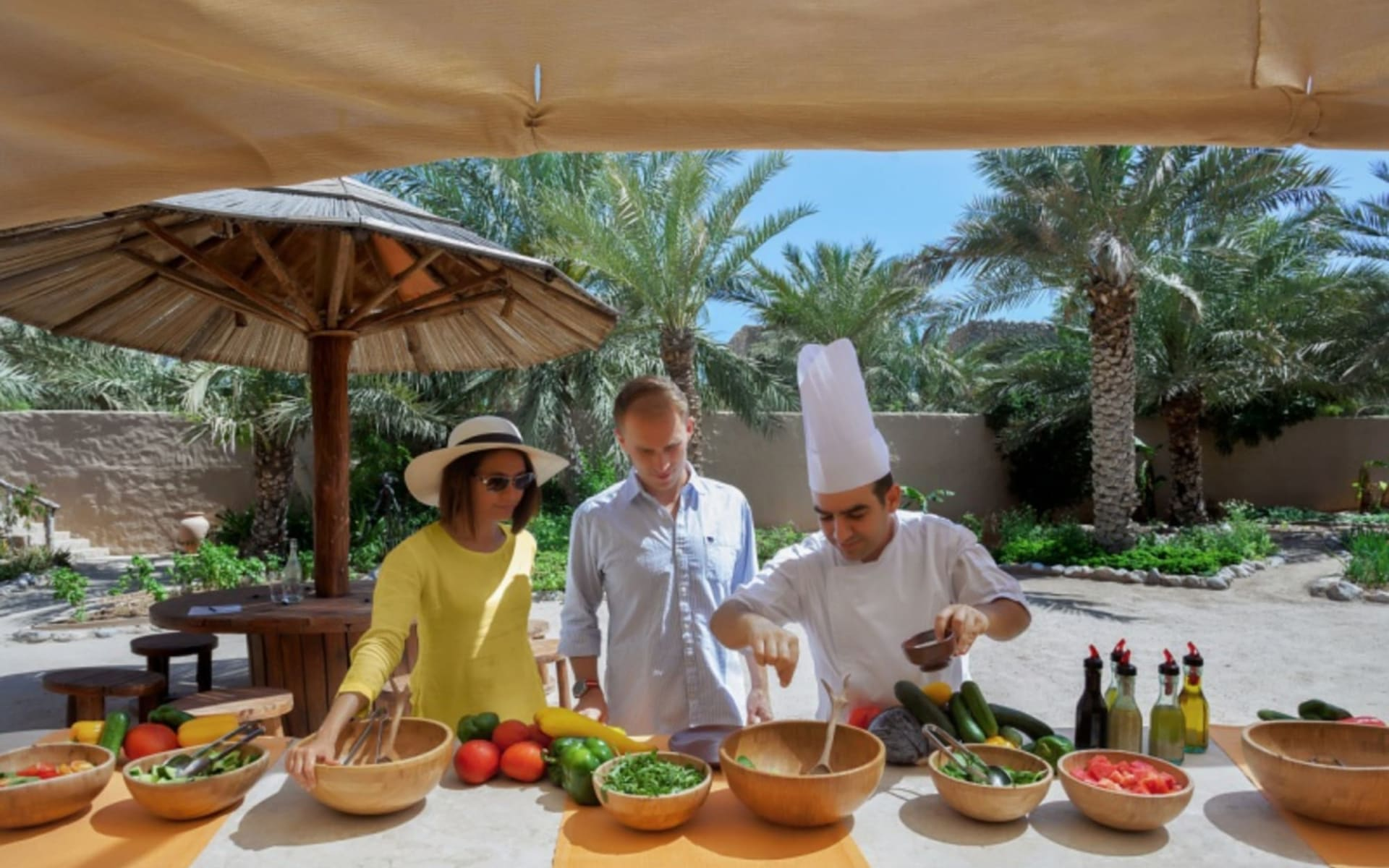Six Senses Hideaway Zighy Bay in Dibba / Musandam:  Cooking Class Organic Garden