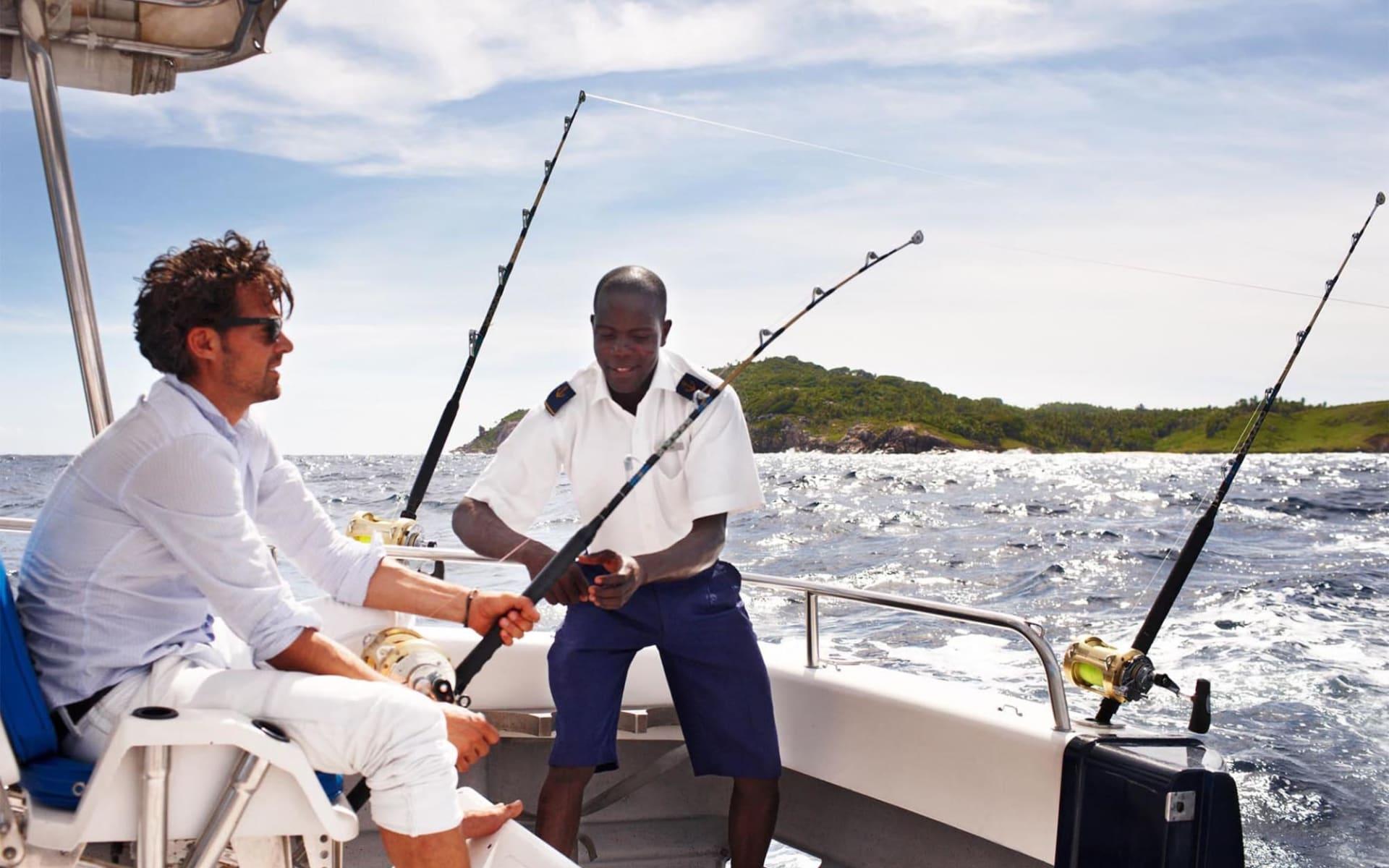 Fregate Island Private in Frégate Island:  fishing