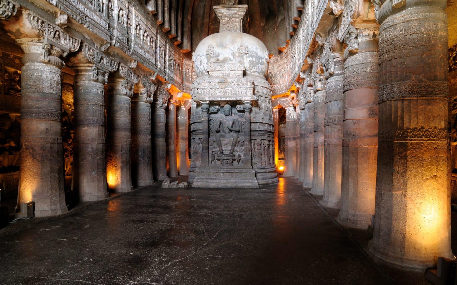 Weltkulturerbe Ellora & Ajanta ab Aurangabad: Ajanta: Stupa
