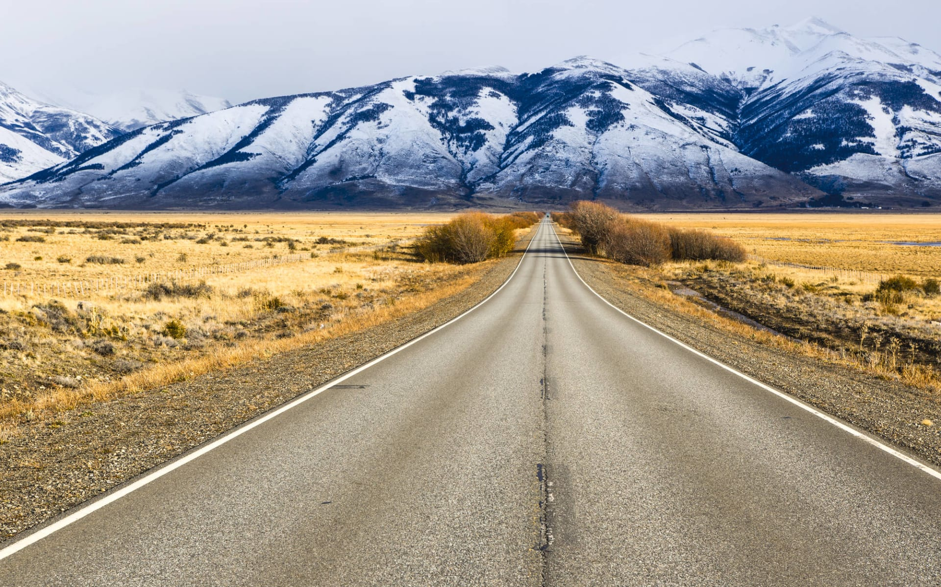 Ruta 40: Trelew - El Calafate: Argentinien - El Calafate - Strasse