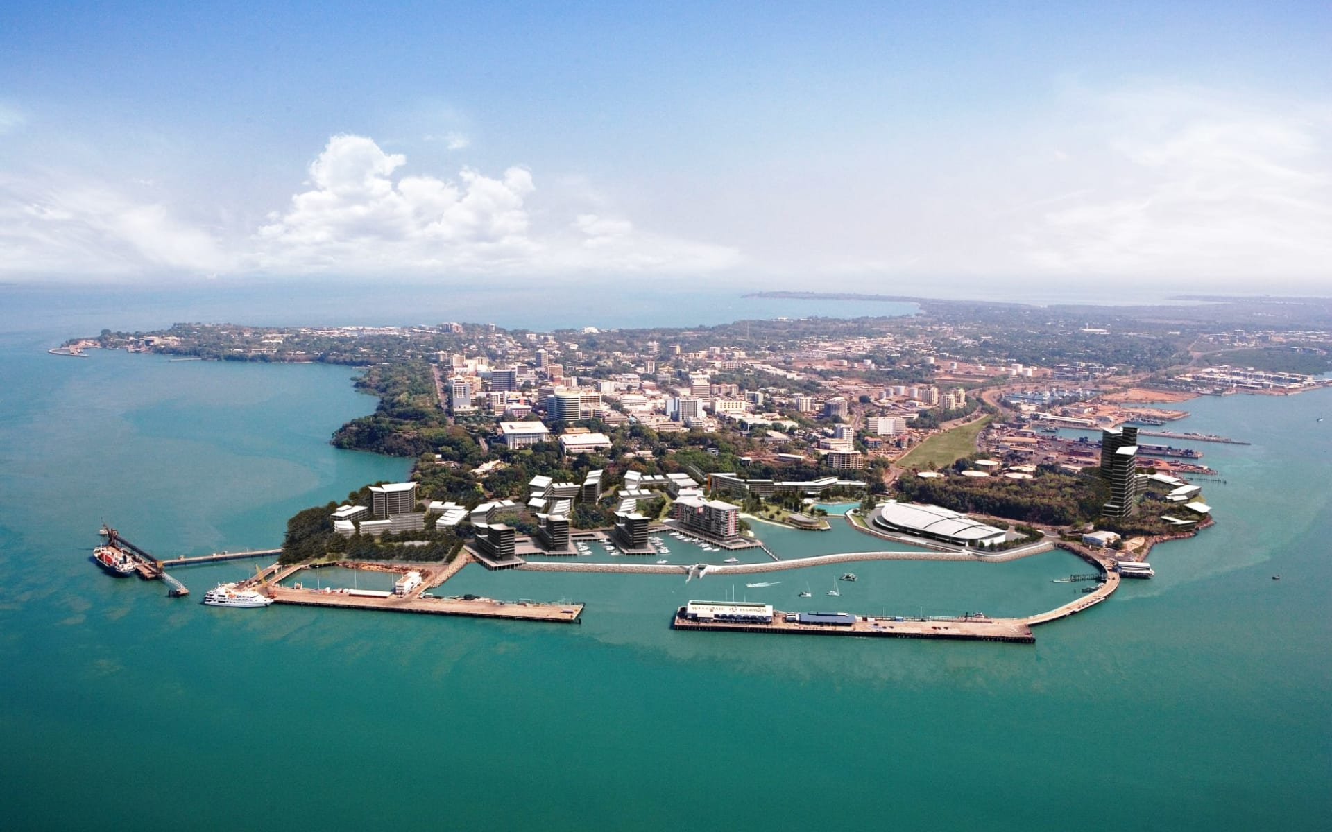 Kaleidoskop Australien (AAT Kings) ab Melbourne: Australia - Northern Territory - Darwin - Waterfront