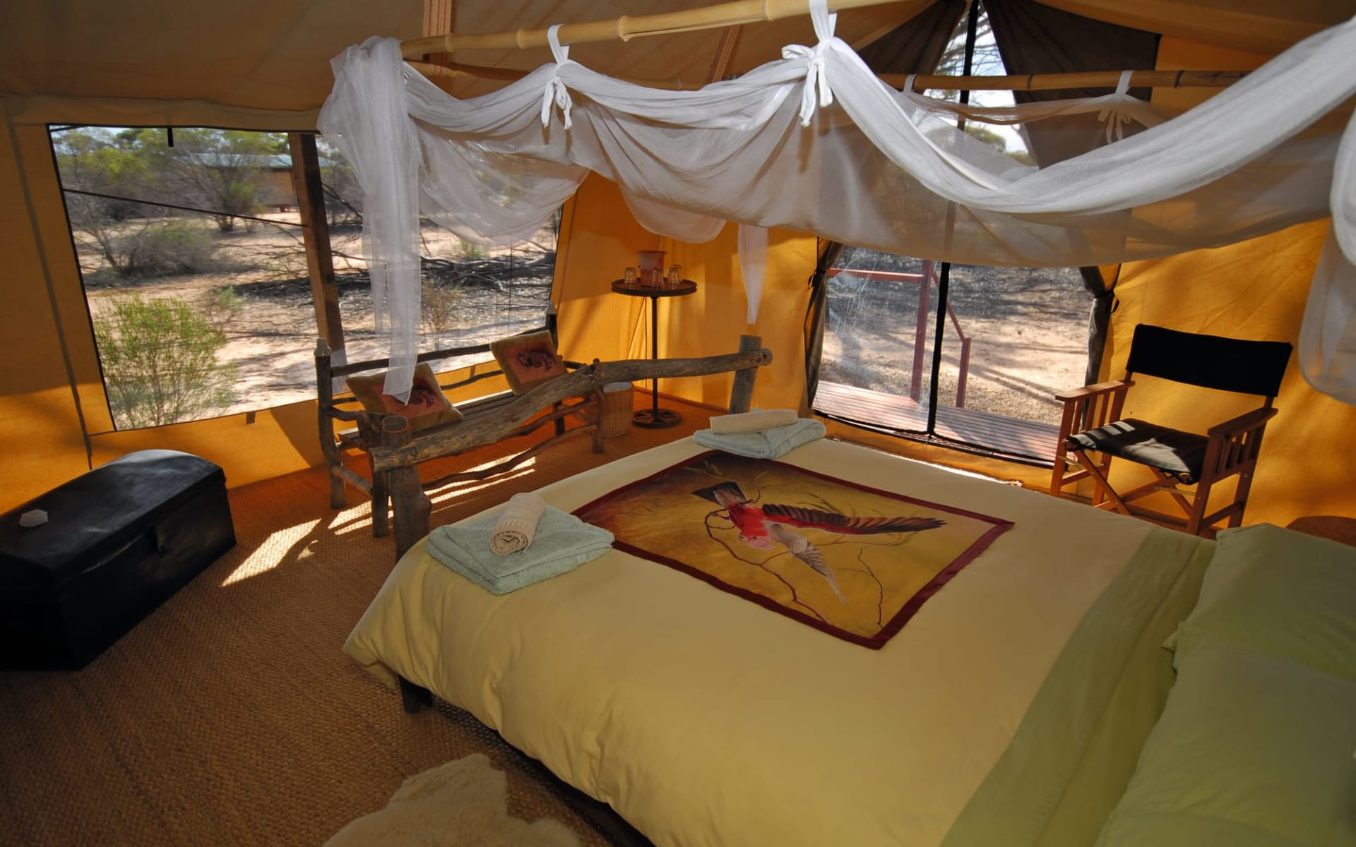 Outback to the Sea ab Port Lincoln: Australia - South Australia - Kangaluna Camp - Main Bedroom