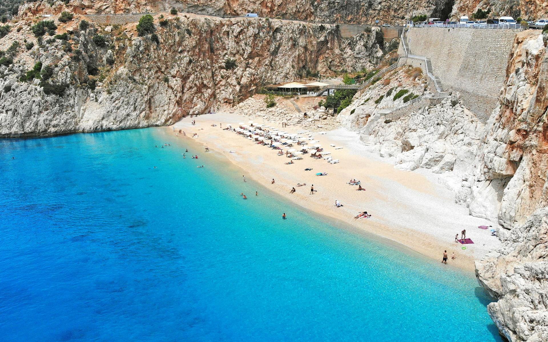 Badeferien im Seaden Sea World Resort & Spa ab Side: Badestrand_Türkei