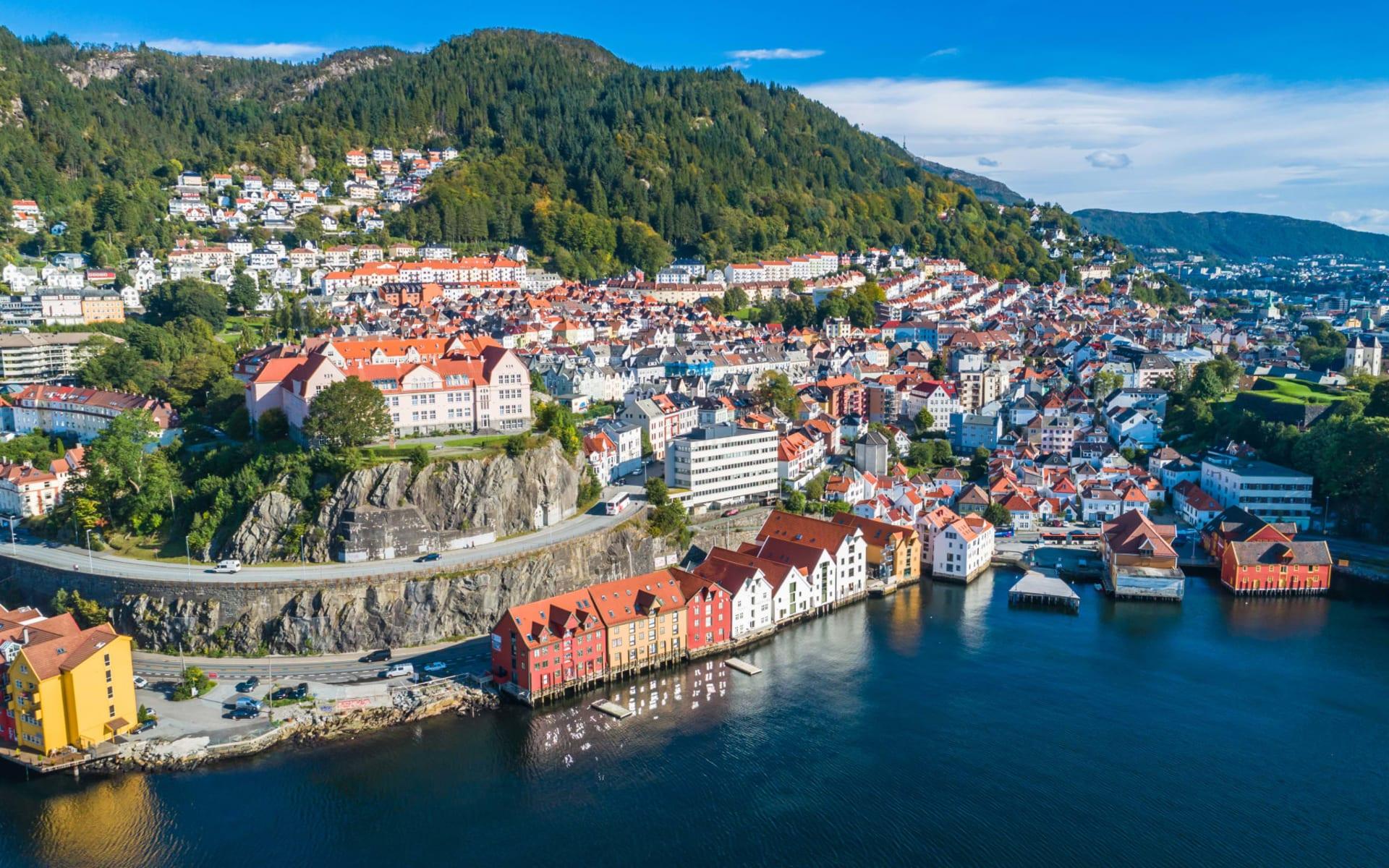 Radisson Blu Royal in Bergen: Bergen Altstadt-Luftbild