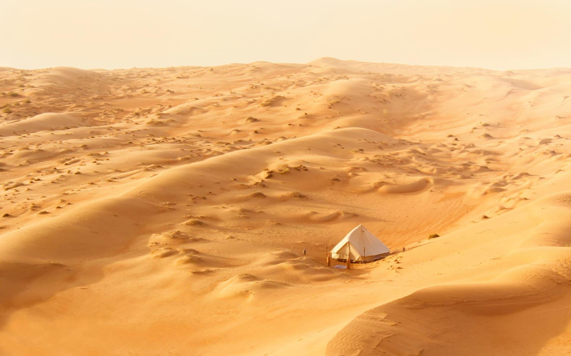Luxus-Camping in der Wüste & faszinierende Berglandschaften ab Muscat: Canvas Club Glamping Oman