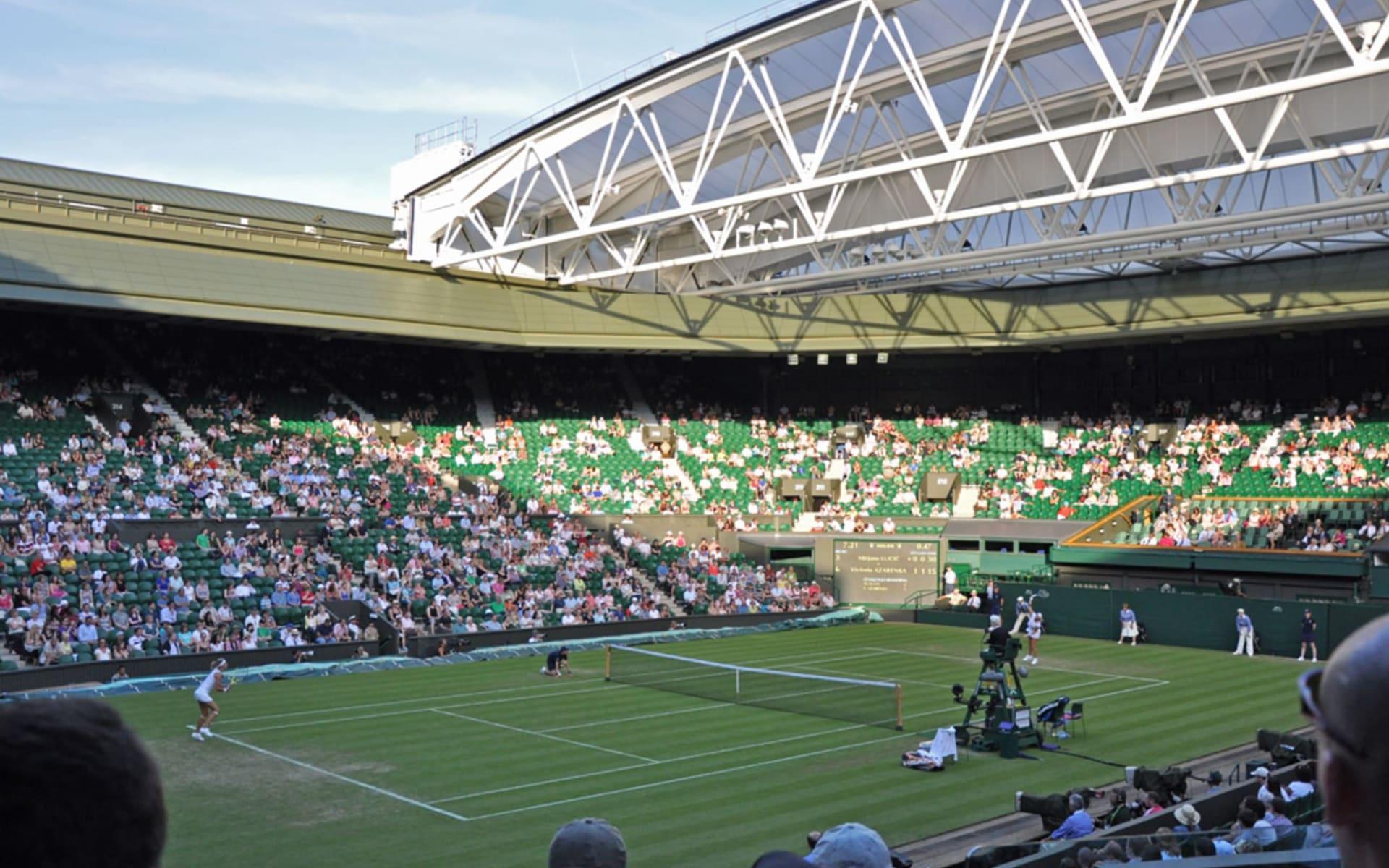Wimbledon ab London: Centre_Court_roof_Copyright Albert Lee