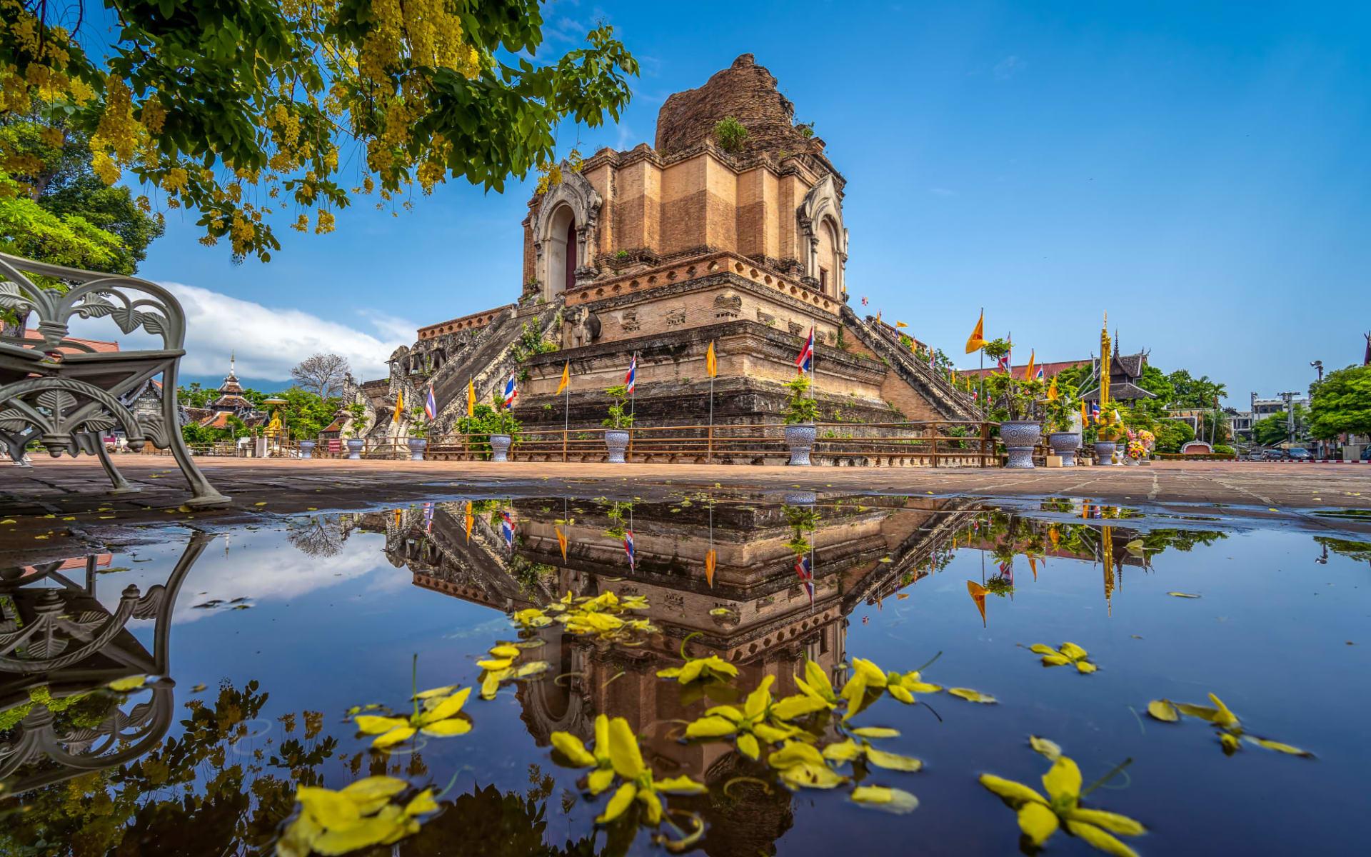 Höhepunkte Thailands ab Bangkok: Chiang Mai Wat Chedi Luang