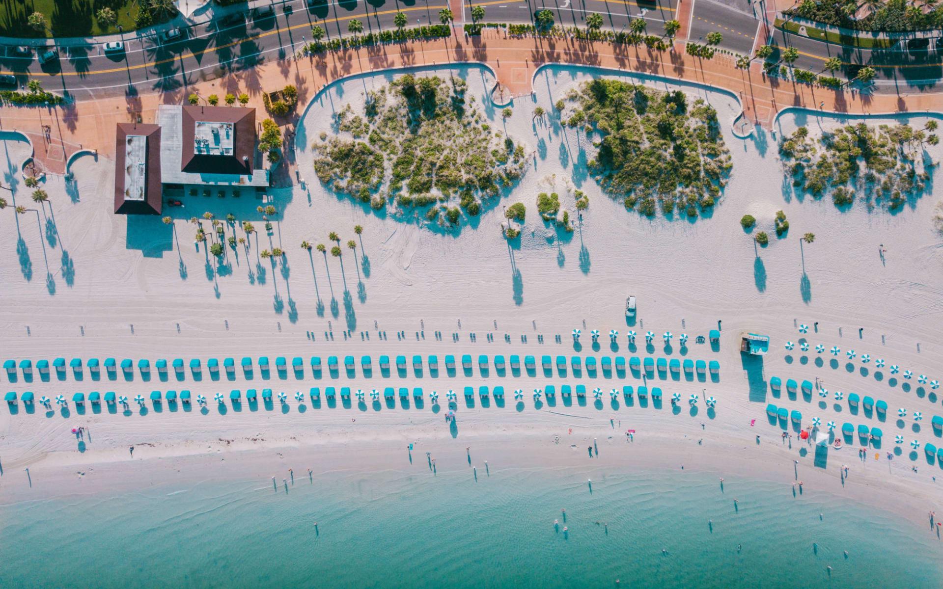 Best of Florida ab Miami: Clearwater Beach Walk Aerial - Clearwater Beach