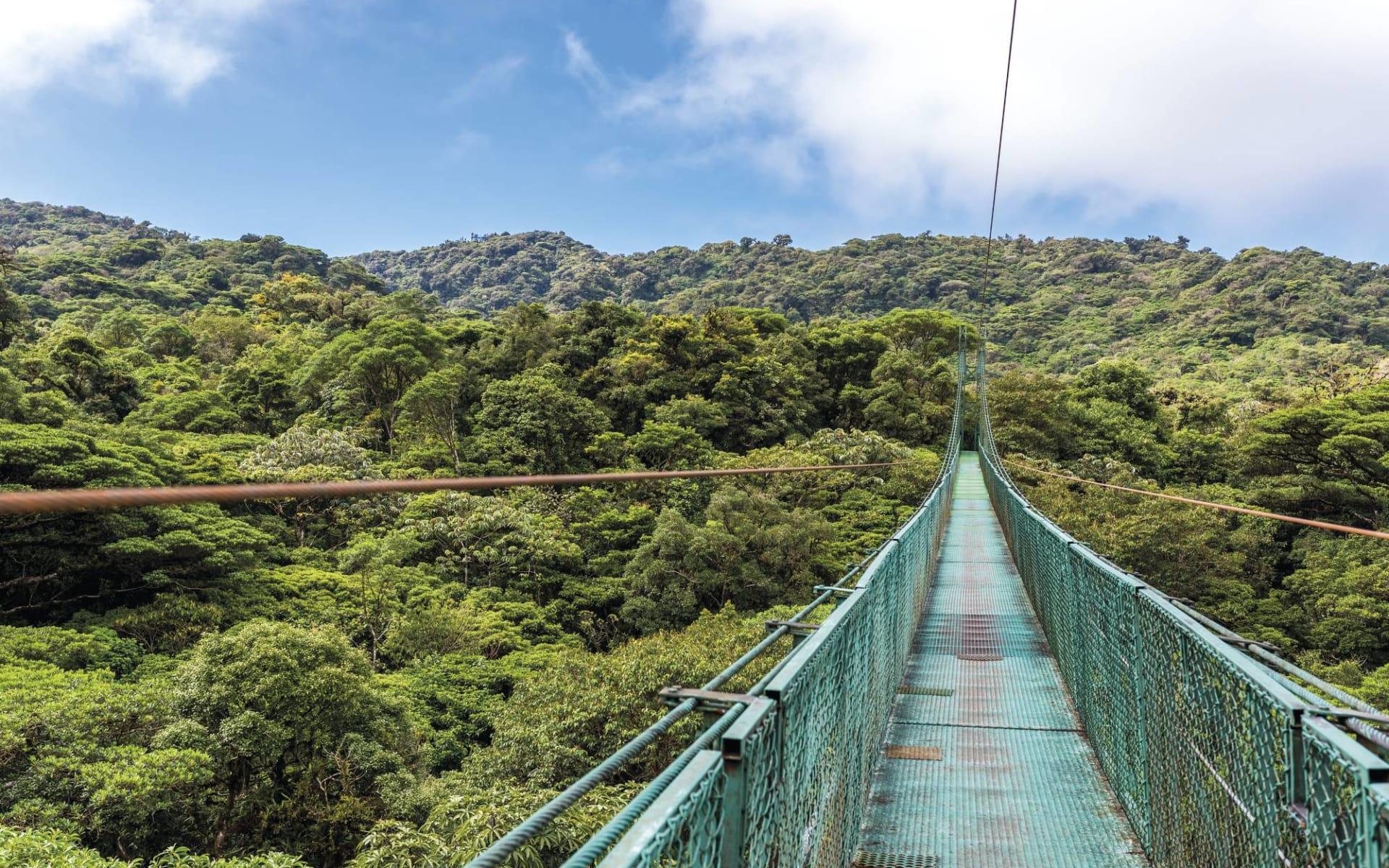 Mietwagenreise Costa Rica Classic ab San José City: Costa Rica - Monteverde - Hängebrücke