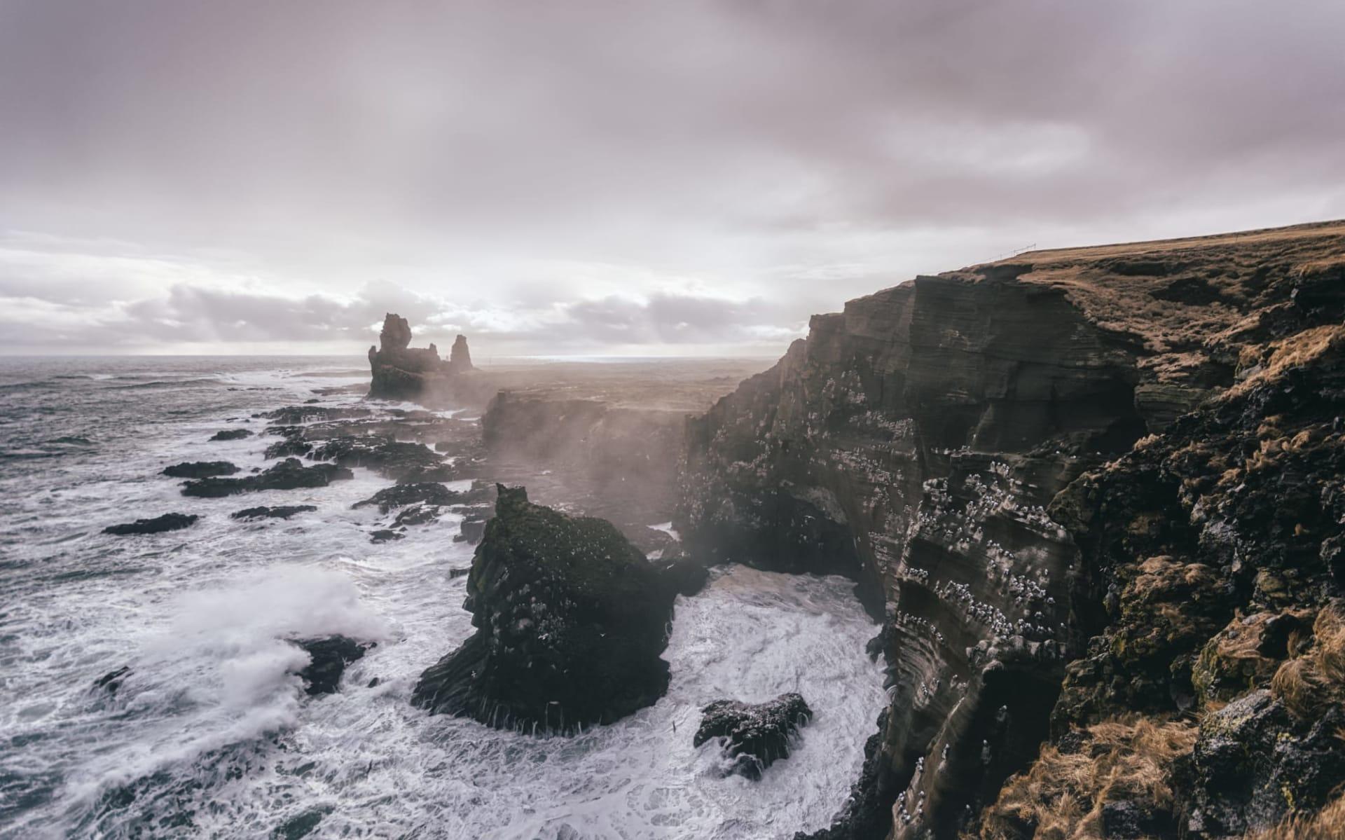 Hraunsnefi in Reykjavik: Dramatic seascape at Snaefellsnes Peninsula, Western Iceland