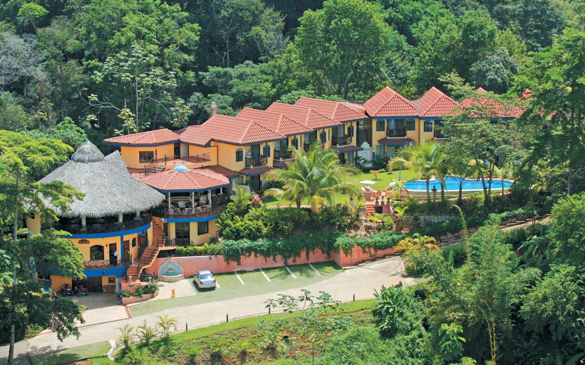 Hotel Cuna del Angel in Dominical:  @AerialView_02