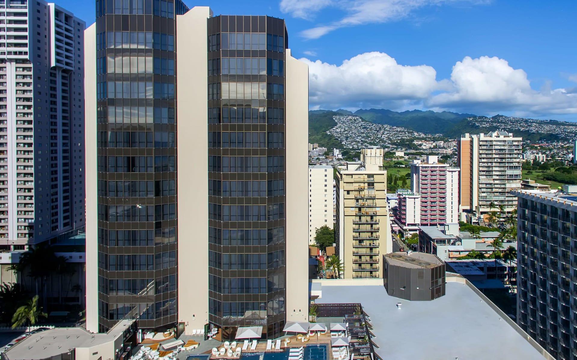 Hyatt Centric Waikiki Beach in Honolulu - Oahu:  Aussenansicht