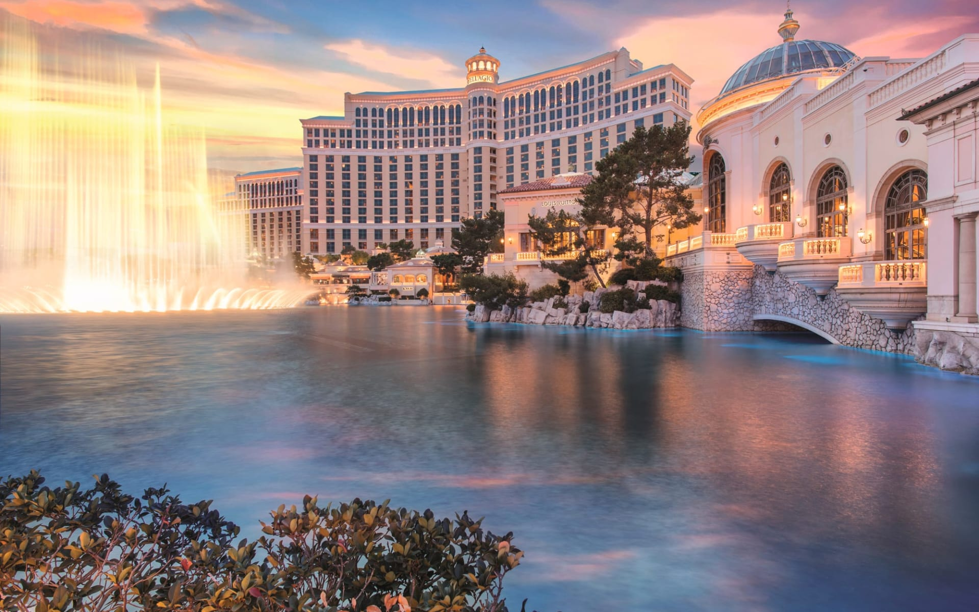 Bellagio in Las Vegas:  Bellagio - Aussenansicht