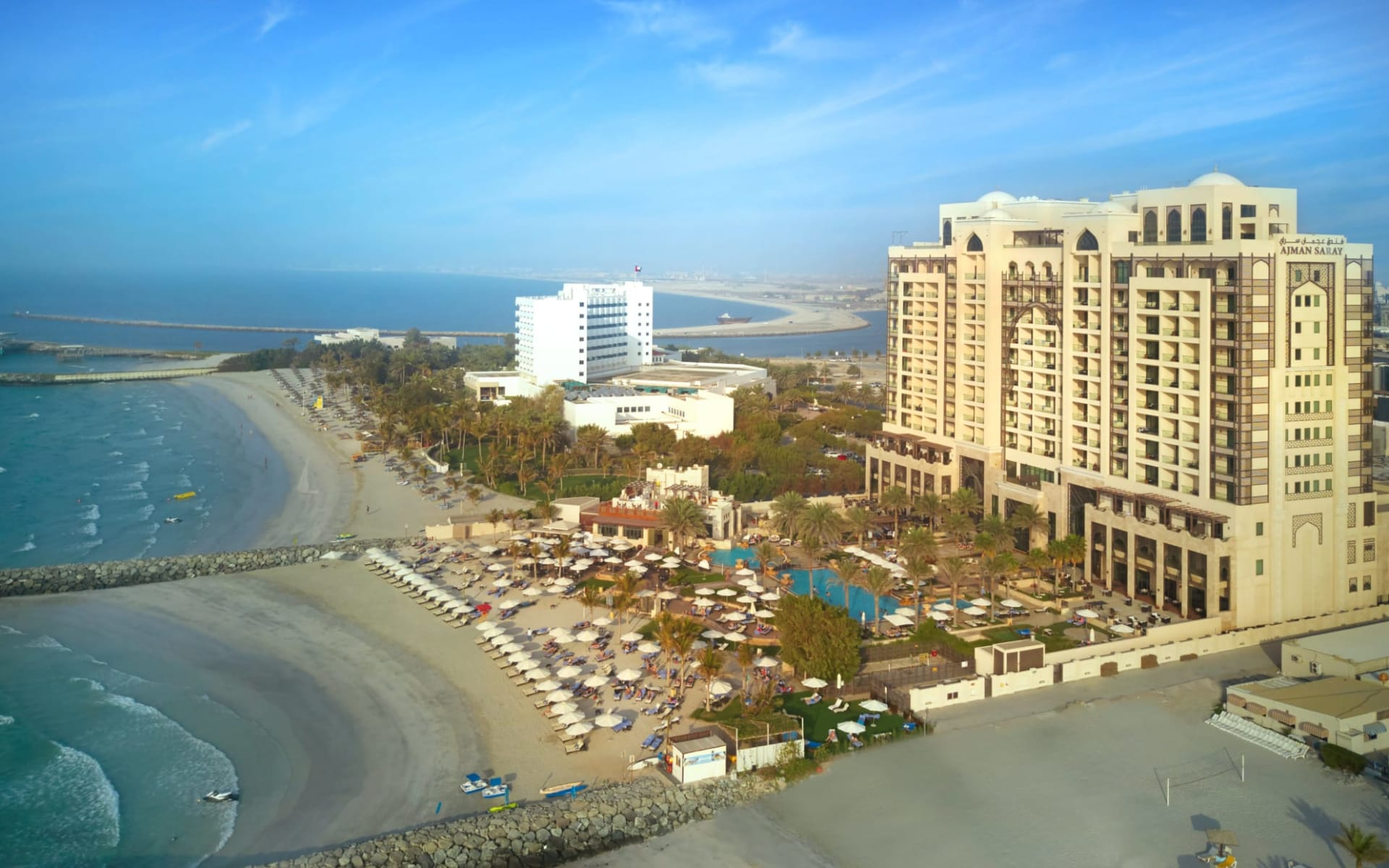 Ajman Saray A Luxury Collection Resort: birdview from the sea