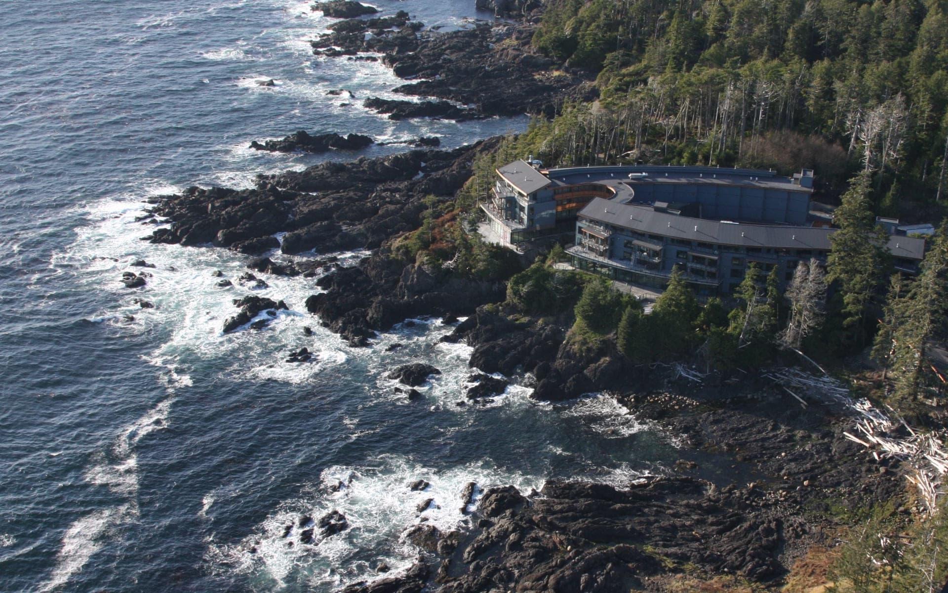 Black Rock Oceanfront Resort in Ucluelet:  Black Rock Oceanfront Resort_ViewFromAir
