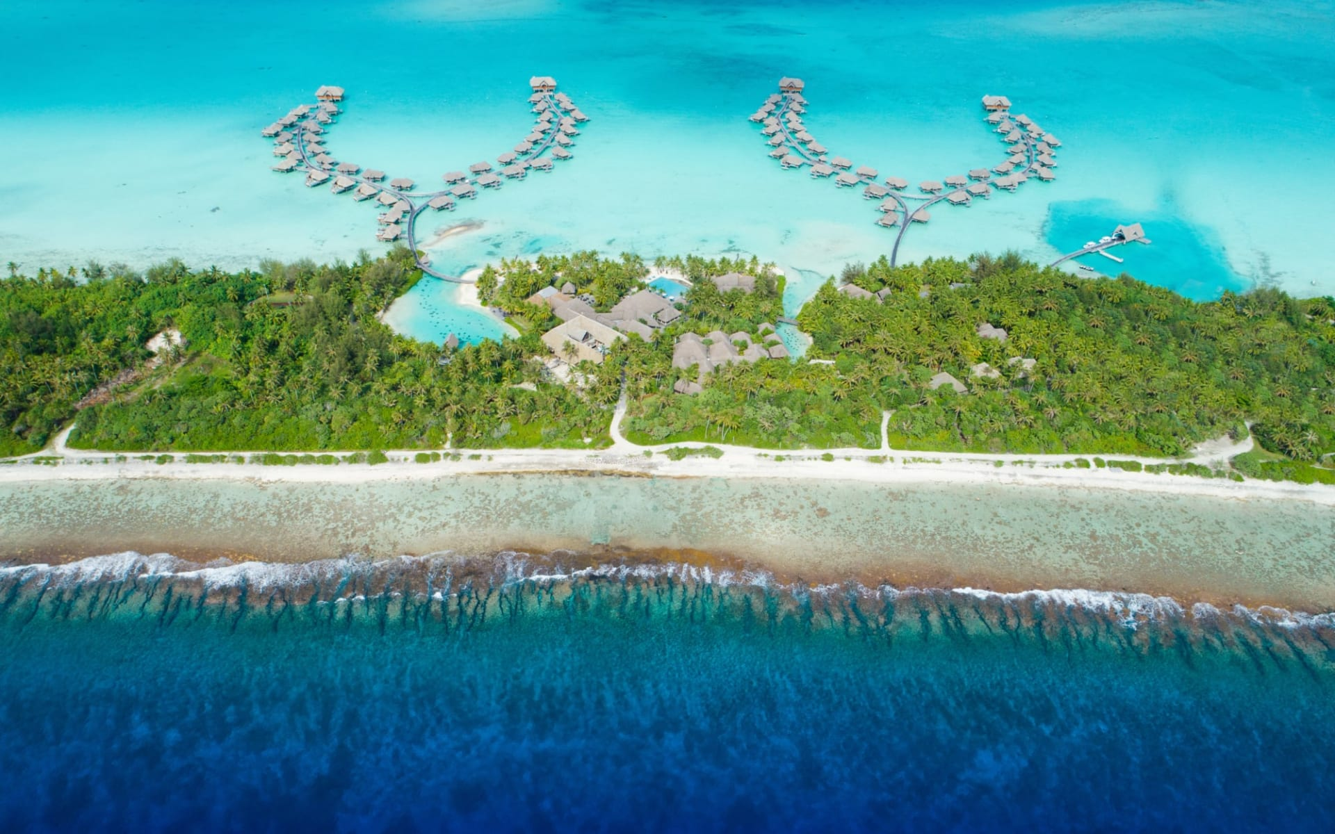 Intercontinental Bora Bora Resort & Thalasso Spa:  BOB Intercontinental Thalasso Aerial View (1)