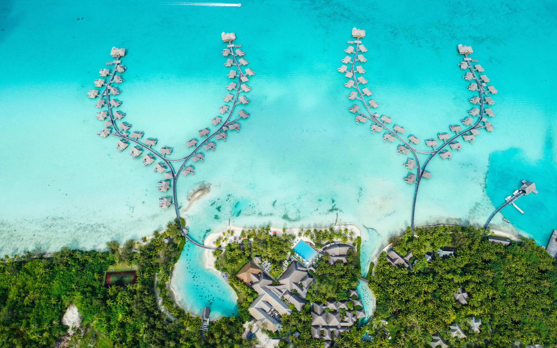 Intercontinental Bora Bora Resort & Thalasso Spa:  BOB Intercontinental Thalasso Aerial View (2)