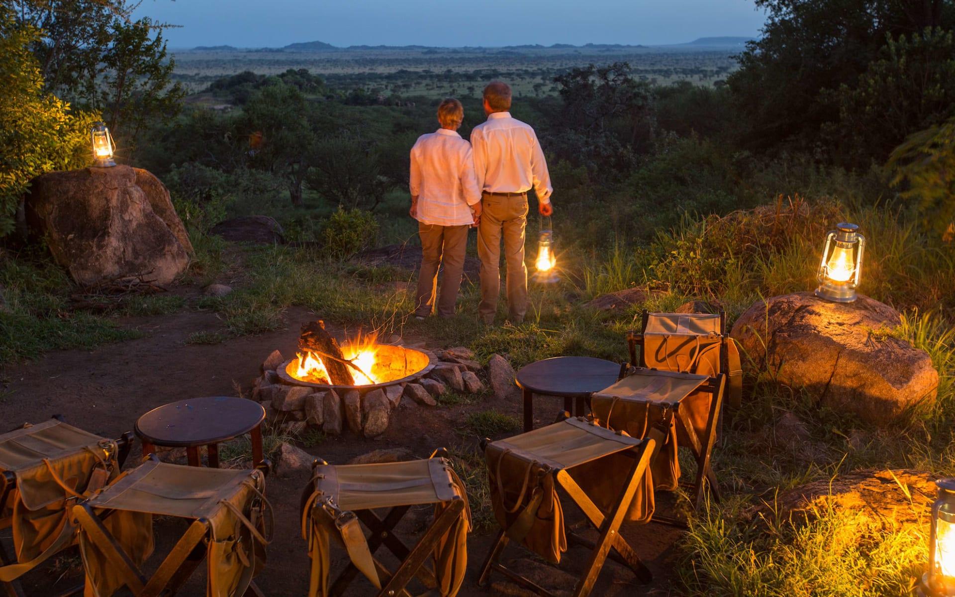 Serengeti Pioneer Camp:  Campfire
